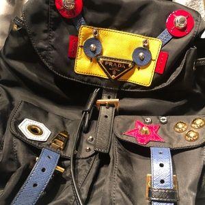 Prada Women's Nylon and Saffiano Robot backpack